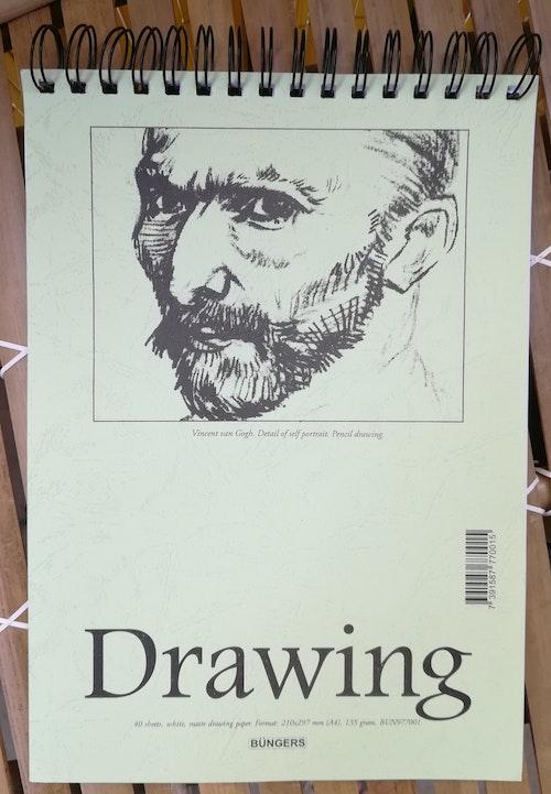 Teckningsblock Drawing A4 -135 gr - 40 vita blad