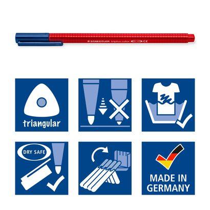 Staedtler Fiberspetspenna Triplus Fineliner Color rulle 1,0 mm , 48 st färger