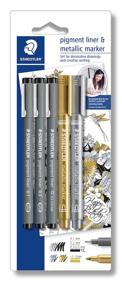 Staedtler Pigment fineliner & Metallic markers