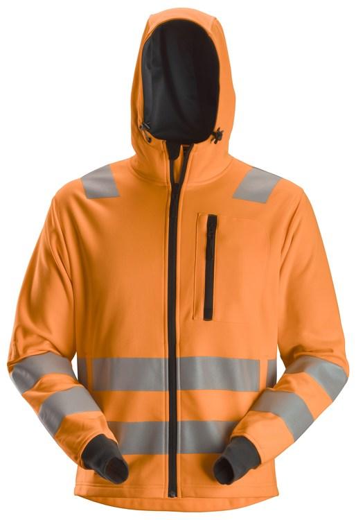 8039 AllroundWork, Varsel dragkedje hoodie Kl2/Kl3