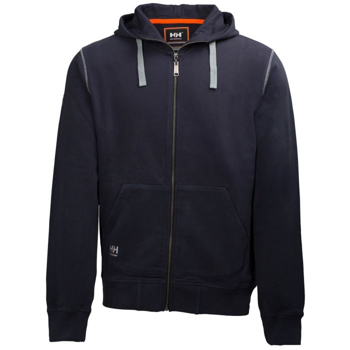 OXFORD FULL ZIP COTTON HOODIE