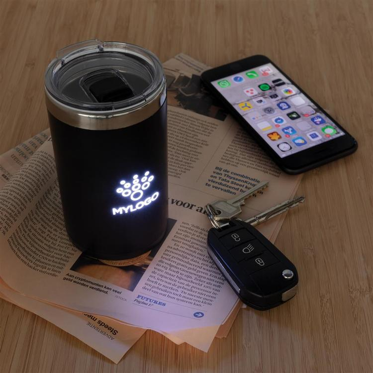 Light up logo kaffekopp