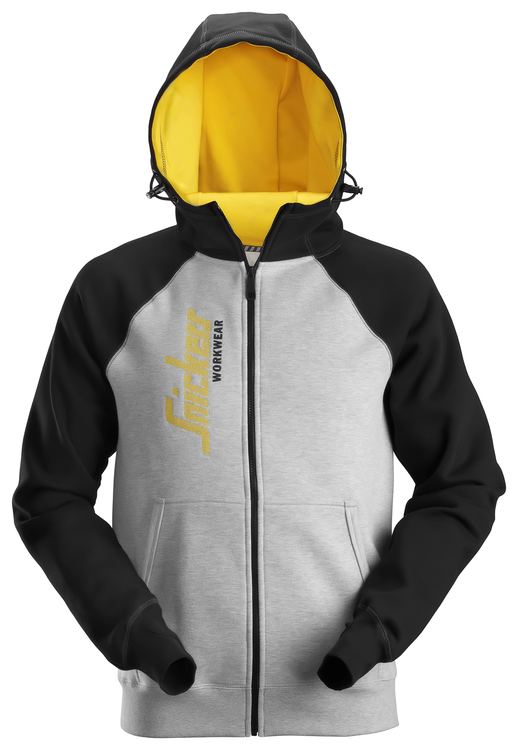 Logo dragkedje huvtröja, SNICKERS Lindahls yrkeskläder AB