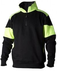 Sweatshirt Zip 222 svart/gul KAMPANJPRIS