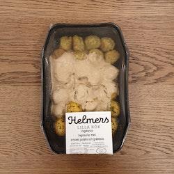 Vegobullar med örtstekt potatis och gräddsås 400g