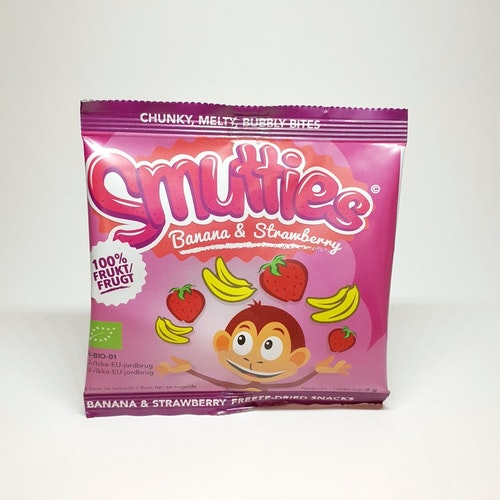 Smutties Banana & Strawberry 100% frukt  6g