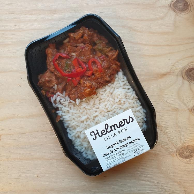 Ungersk gulasch med ris 400g
