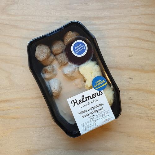 Köttbullar med potatismos brunsås och lingonsylt 400g