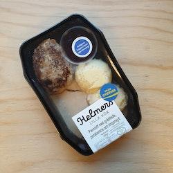 Pannbiff med gräddsås potatismos och lingonsylt 400g