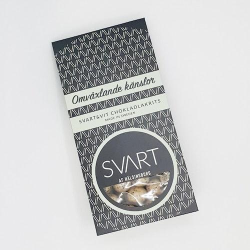 Svart & Vit Chokladlakrits 150 g