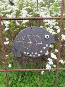 Trädgårdsfågel, svart höger