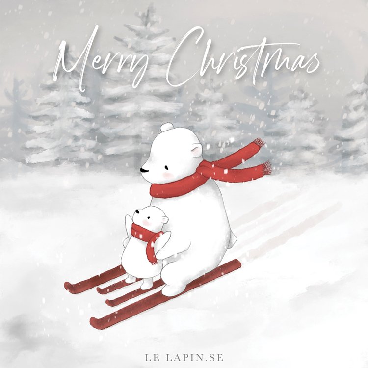 Let's ski - Merry Christmas