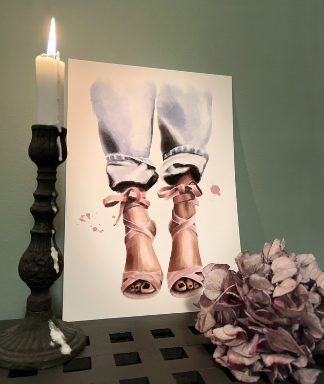 Pink heels - A4