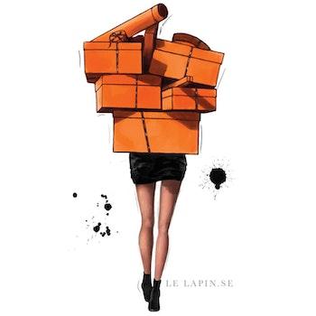 Hermès shopping - Vykort