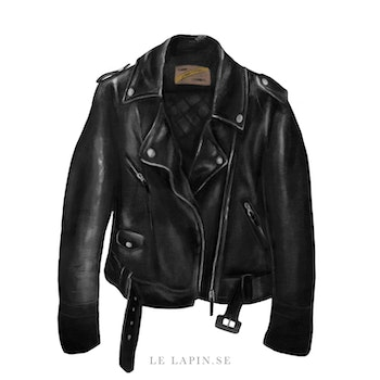 Leather jacket - Vykort