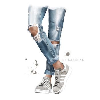 Adidas sneakers - Vykort