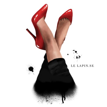 Red Shoes - Vykort