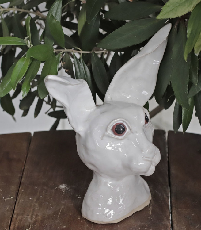 Kaniner, stående, flera färger