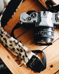 Leo Faux Fur Camera Strap
