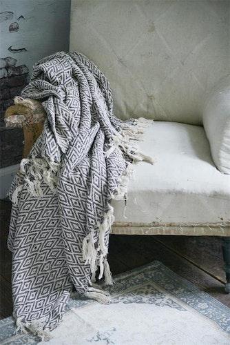 Blanket - Cream/Brown