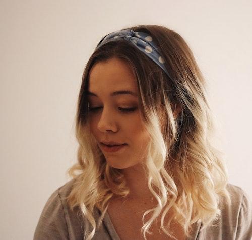 Poppy Hairband Light Blue