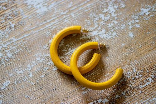 Örhänge Isabella, Mustard