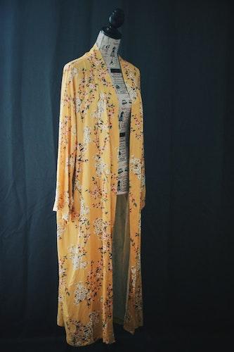 Kimono Gul - Blommig