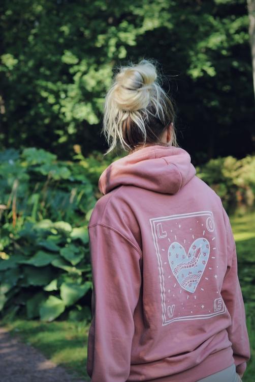 Love Hoodie - Dusty Pink