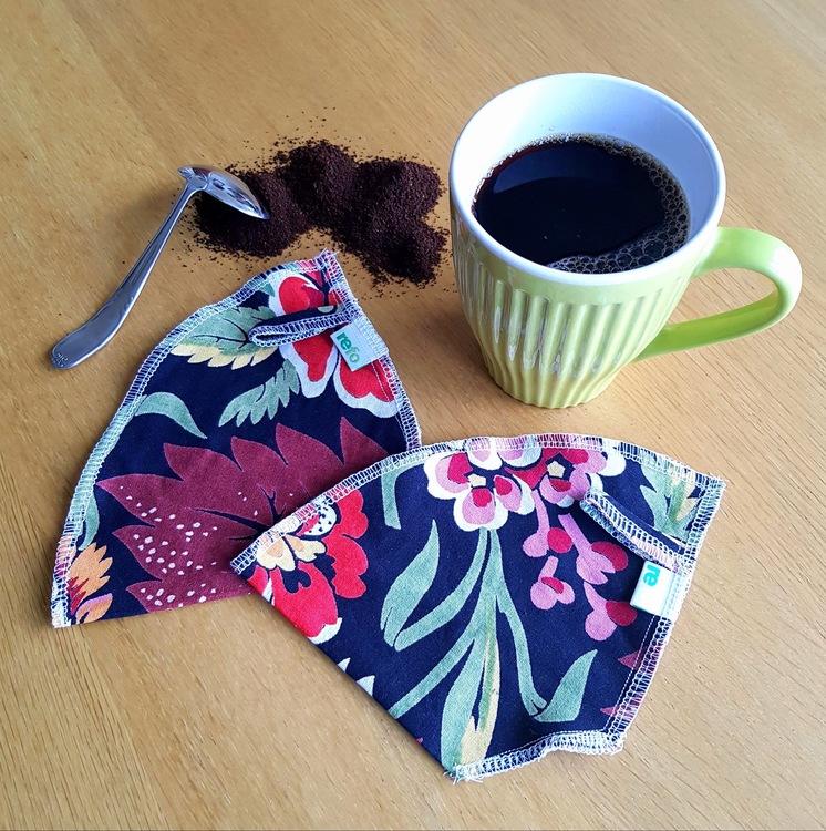 Kaffefilter i återvunnet tyg - två pack