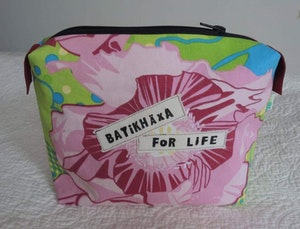 Necessär / Toilet bag - Batikhäxa for life, rosa