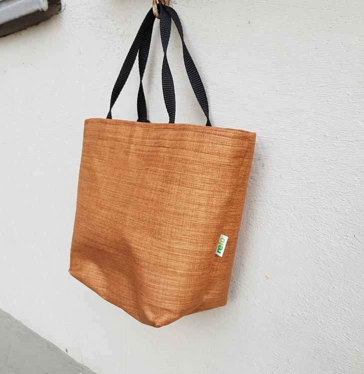 Matlådeväska/Lunch Bag - (Mindre)  melerad i rostiga toner