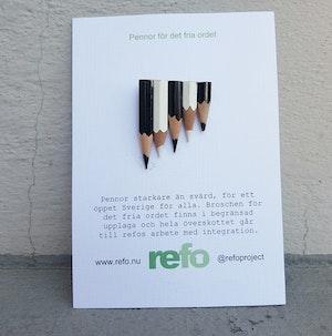 Brosch - pennor för det fria ordet