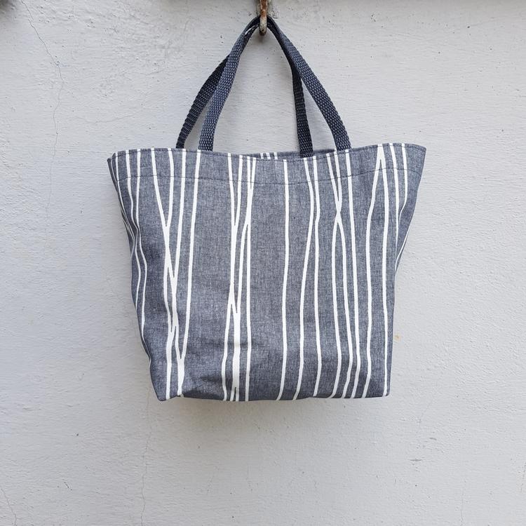 Matlådeväska/ Lunch Bag - grå mönstrad (Mindre)