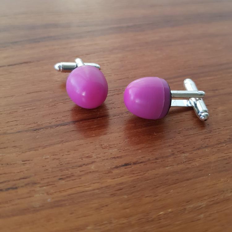 Manschettknappar/ cuff links - Spelpjäs rosa