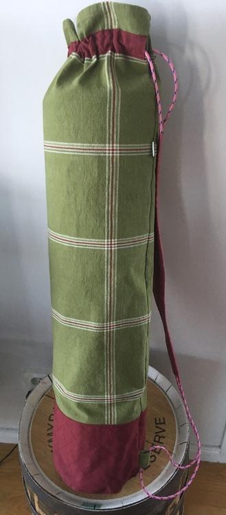 Yogamatta Fodral röd och grön