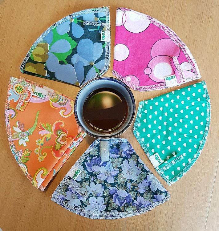 Kaffefilter i återvunnet tyg