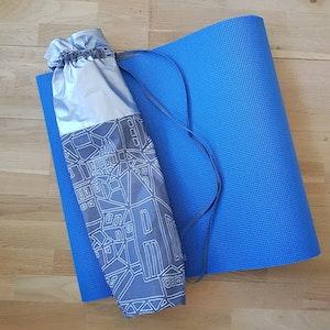 Yogamatta fodral - silvrig /grå mönstrad
