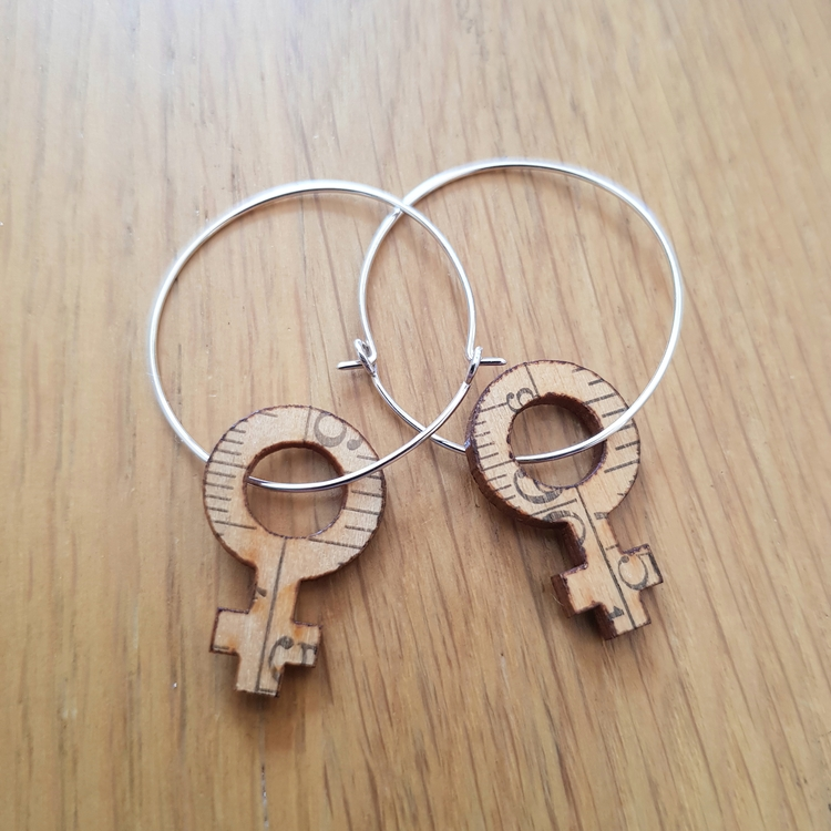 Earrings Feminist Big hoops