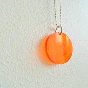 Halsband Cirkus - transparent orange