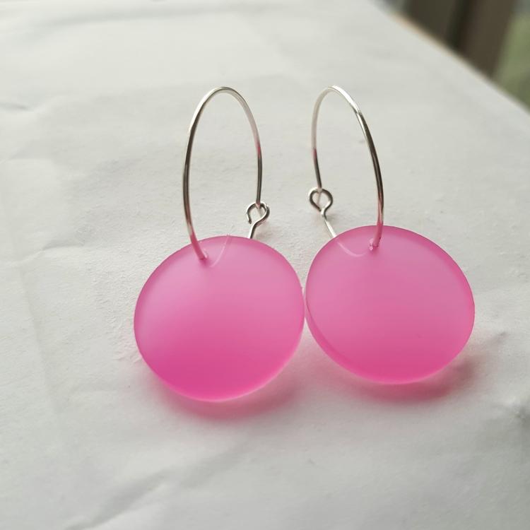 Örhängen Cirkus - dimmig rosa (mindre)