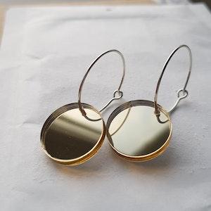 Örhängen Cirkus - guldspegel (mindre)