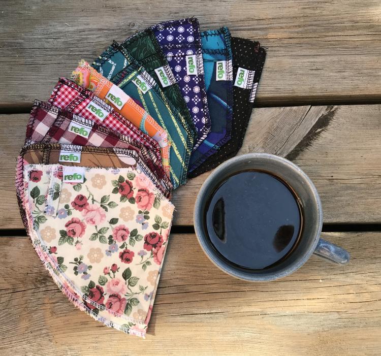 Pepp-post med kaffefilter av återvunnet tyg - porto ingår