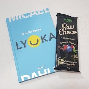 Lyckopost, bok och choklad, veganalternativ -porto ingår
