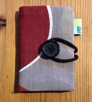 Nålbok /Needle case - grå/röd