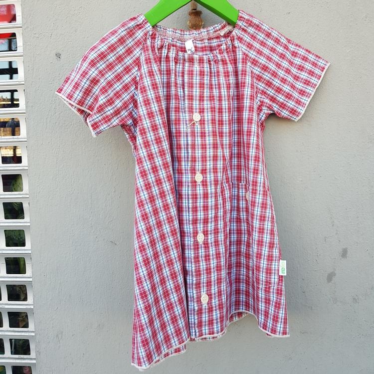 Skjortklänning röd storlek 74-80