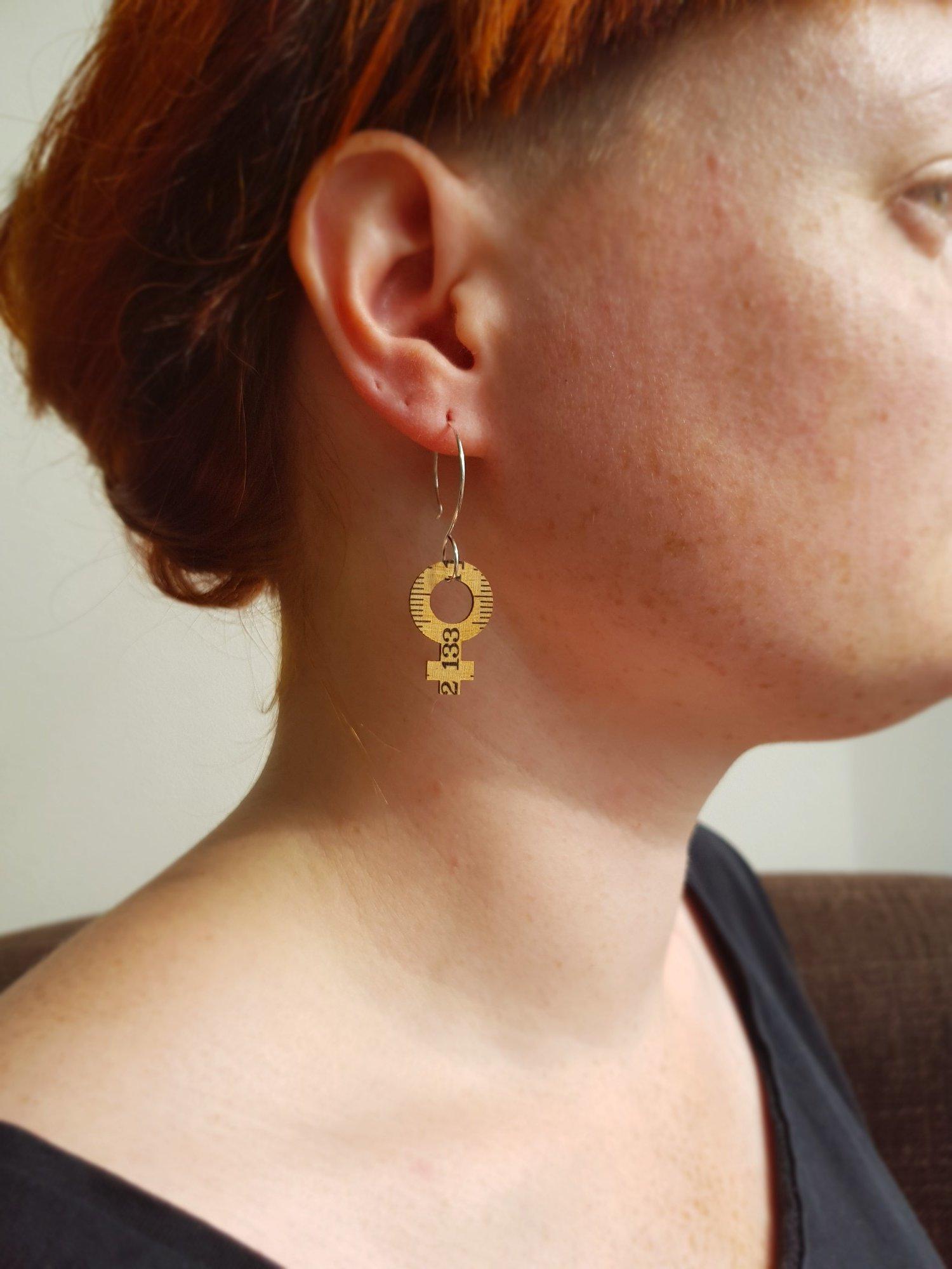 Earrings Feminist Big