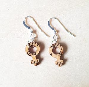 Earrings feminist small