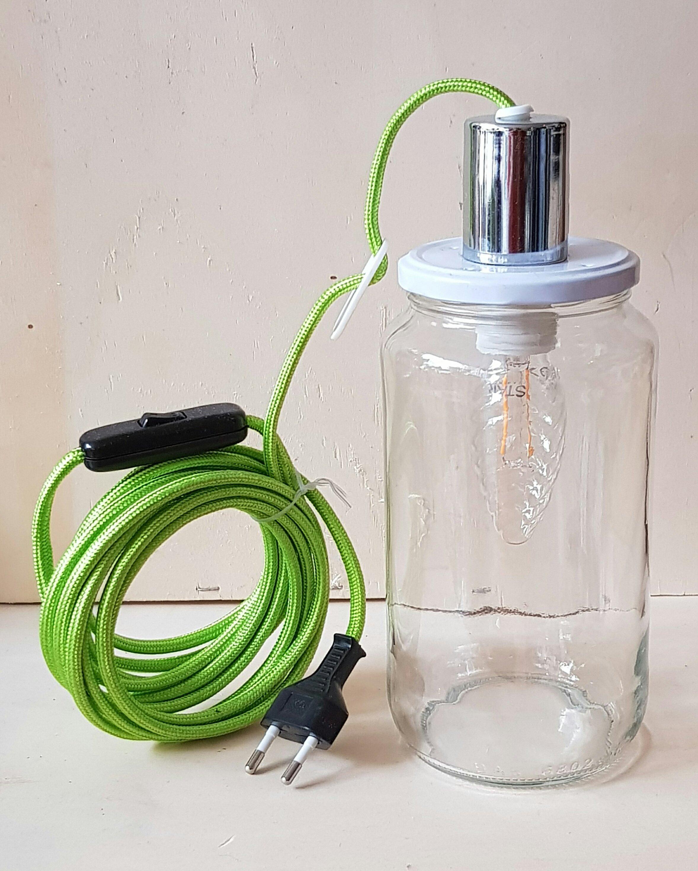Glass jar lamp