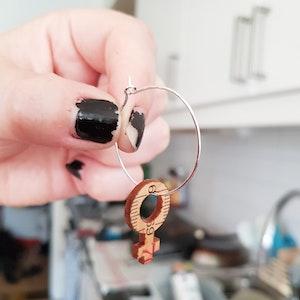 Earrings Feminist Big hoops