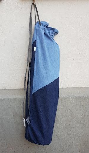 Yogamatta Fodral - Jeansblå, ljust upptill